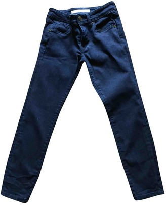 Burberry Blue Cotton Trousers