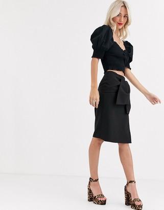 Love tie front skirt