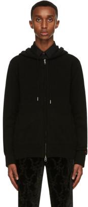 Alexander McQueen Black Cashmere Zip-Up Hoodie