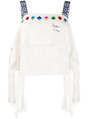Mira Mikati Layered Diamond-Embroidered Camisole