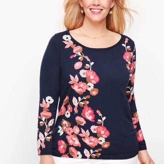 Talbots Floral Crewneck Sweater