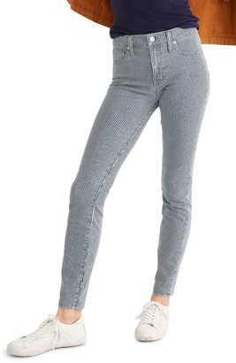 Madewell High Rise Railroad Stripe Skinny Jeans (Regular & Plus Size)