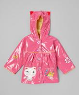 Kidorable Pink Kitty Raincoat - Girls