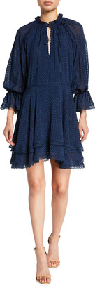 Alice + Olivia Joanne Handkerchief Short Dress