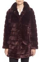 Eliza J Women's Grooved Faux Fur Coat