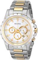 Bulova Men's Marine Star Chronograph Watch White 98B014