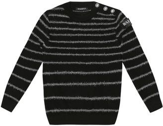 Balmain Kids Striped wool sweater