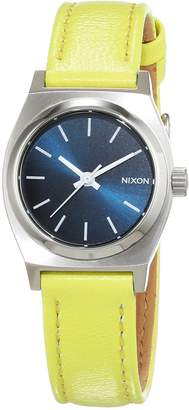 Nixon Women's Quartz Watch Analogue Display and Leather Strap A5092080-00