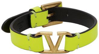 Valentino Yellow Garavani VLogo Bracelet