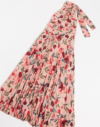 Forever U high neck maxi dress in floral