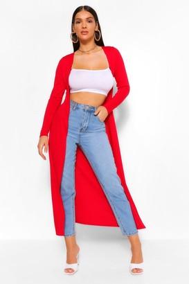 boohoo Basic Jersey Maxi Kimono
