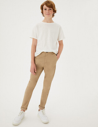 Marks and Spencer Cotton Chinos with Stretch (3-16 Yrs)