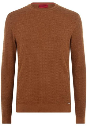 HUGO BOSS Smulton Textured Crew Neck Jumper