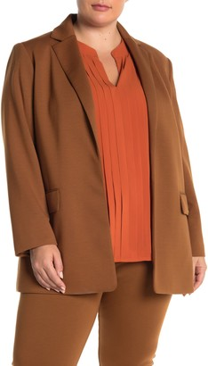Calvin Klein Long Sleeve Classic Two Pocket Blazer (Plus Size)