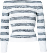 Oscar de la Renta off-shoulder striped jumper - women - Viscose - M