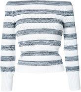 Oscar de la Renta off-shoulder striped jumper