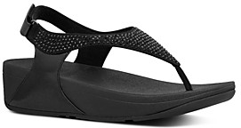 FitFlop Women's Skylar Crystal Thong Sandals