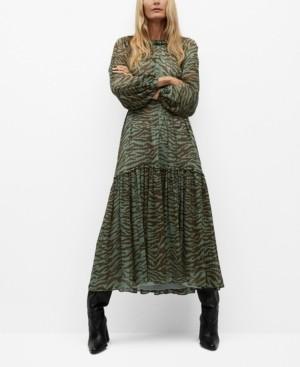 MANGO Women's Animal Print Dress