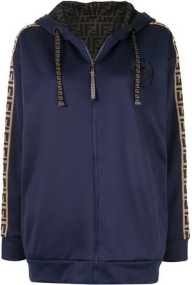 Fendi reversible zip-up FF-logo hoodie