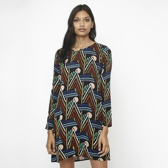 Compania Fantastica Short Shift Dress in Graphic Print