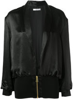 Lanvin silk bomber jacket - women - Silk/Acetate/Viscose - 38