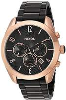 Nixon Women's 'Bullet Chrono' Quartz Metal and Stainless Steel Watch, Color:Black (Model: A3662481-00)