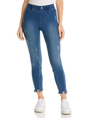 Hue Ultra Soft Distressed Denim Look Leggings