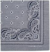 Tommy Hilfiger Men's Chambray Paisley-Print Pocket Square