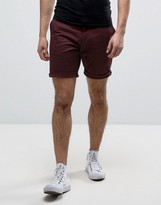 Fred Perry Slim Fit Chino Short In Red