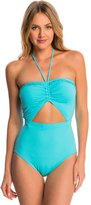 Michael Kors Swimwear Bohemian Rhapsody Beaded Halter One Piece Swimsuit 8142784