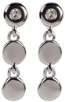 Kenneth Cole New York Sterling Silver Diamond Detail Triple Disc Drop Earrings - 0.06 ctw