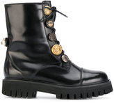 Dolce & Gabbana Biker Boots with decorative buttons