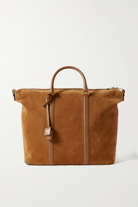 Saint Laurent Camden Leather-trimmed Suede Tote - Brown