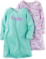 Carter's Girls' or Little Girls' 2-Pk. Happy Owls Nightgown Set