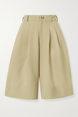 Nicholas Amy Pleated Twill Shorts - Taupe