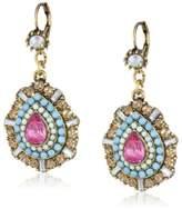 """Betsey Johnson St. Barts"""" Crystal Teardrop Earrings"""