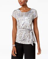MSK Embellished Side-Tie Top