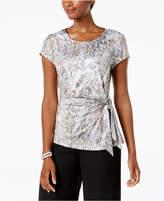 MSK Embellished Side-Tie Top