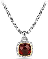 David Yurman Albion Pendant with Garnet and Diamonds with 18k Gold