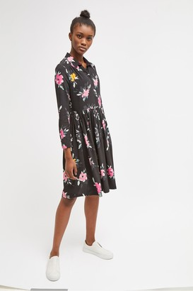 French Connection Edith Drape Floral Shirt Dress