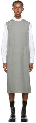 Thom Browne Black and White Heavy Wool Column Tunic