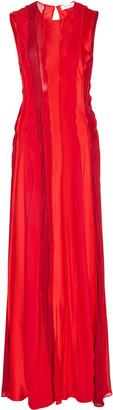 Prabal Gurung Paneled Silk-Satin Midi Dress