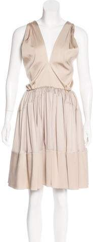 Maison Rabih Kayrouz Silk Knee-Length Dress w/ Tags