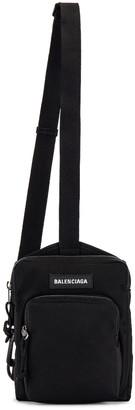 Balenciaga Explorer Crossbody Messenger Bag in Black | FWRD