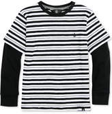 Volcom Striped Long-Sleeve Cotton T-Shirt, Toddler Boys (2T-5T)