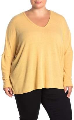 Susina Cozy V-Neck Long Sleeve Top (Plus Size)