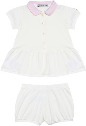 Moncler Enfant Baby dress and bloomers set