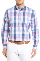 Tailorbyrd Men's Accona Regular Fit Buffalo Check Sport Shirt