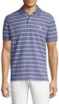 Brooks Brothers Men's Ox Pique Fine Stripe Cotton Polo Shirt