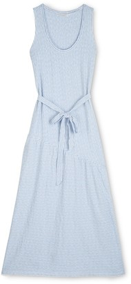 Lucky Brand Eliza Stripe Belted Maxi Dress